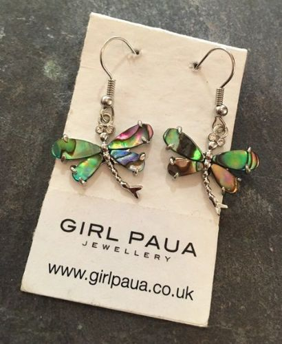 Paua Dragonfly Earrings PE03-DF